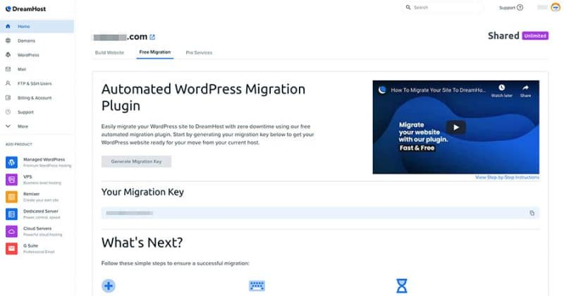 Generating the Migration Key