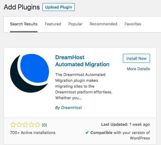 """The DreamHost Automated Migration plugin for WordPress."""